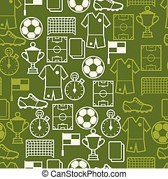 Sports seamless pattern with soccer symbols - Sports...