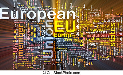 European Union word cloud box package - Software package box...