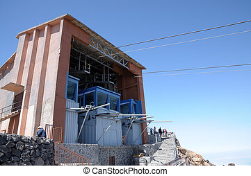 Cablecar station on top of Teide volcano, Tenerife