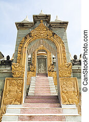 Stone archway and stairs