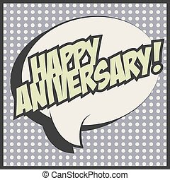 Print - happy aniversary card, illustration in vector format