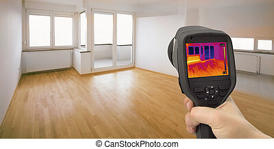 Heat Leak Detection - Thermal Image of Heat Leak thru...