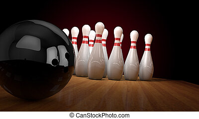bowling and strike