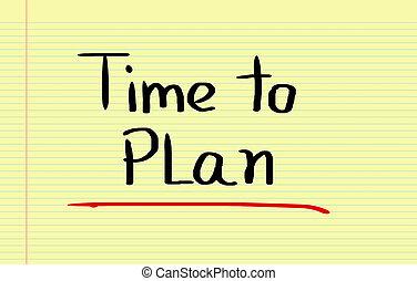 tiempo, a, plan, concepto,