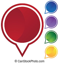 speech circle icon