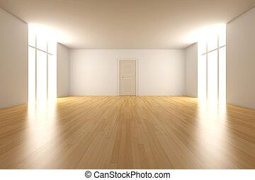 ajtó, Üres, Szoba