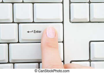 Push enter key