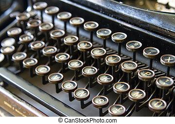 antigas, Máquina escrever,