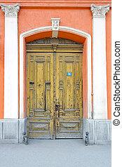 Double door - Close up shot of big old double door