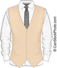 Dress shirt with waistcoat - Formal wear for men Dress shirt...