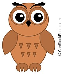 a brown owl only