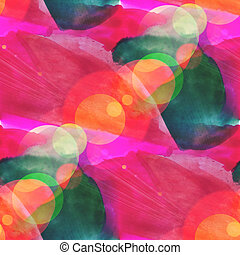 bokeh seamless art red, green brown watercolor design