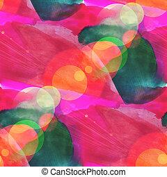 bokeh seamless art red, green brown watercolor design