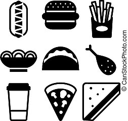 Fast food icon - Stock vector illustration of fast food icon
