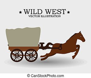 Western design, vector illustration - Western design over...