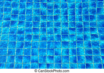 blue tiles swimming pool water reflection texture image