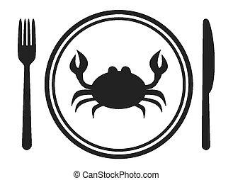a menu of crab