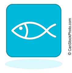 a fish icon on blue background