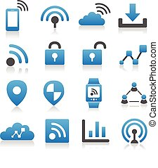 Internet of things icon set - Simplicity Series