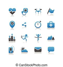 Health icon set - Simplicity Series