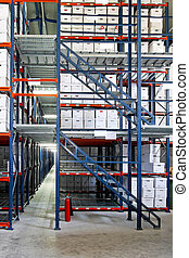 Self storage - Interior shot of warehouse with self storage...