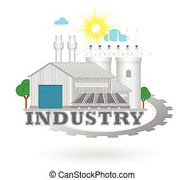Icon - Illustration of industry icon.