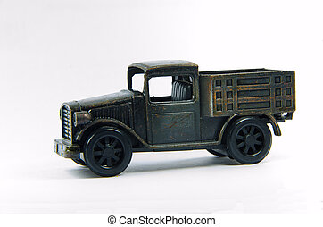 old  black car toy