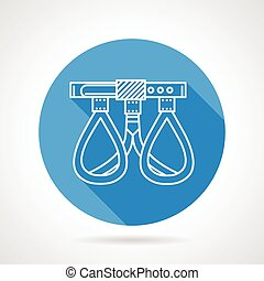 Round flat vector icon for climbing - Blue circle flat...