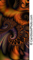 Interweave - An abstract fractal design representing...