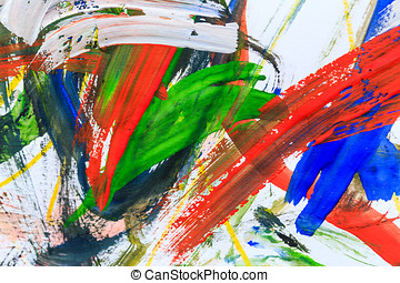 Abstract paint background - Colorful abstract paints is...
