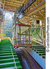 Ropeway in Atami city - Ropeway (cableway) in Atami city...