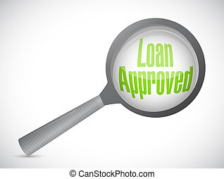loan approved review concept illustration