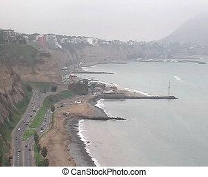 Lima coastline , Peru