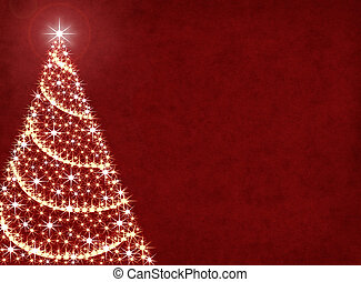 Christmas Tree Lights - A Christmas tree illustration on a...