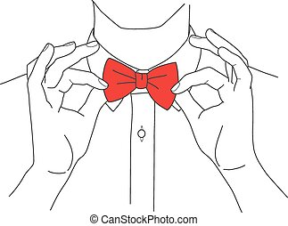 Hipster in a shirt and bow tie vector - Hipster in a shirt...