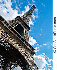 Eiffel Tower Low angle view - Eiffel Tower, Paris, france,...