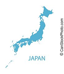 blue map of Japan