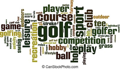 Golf word cloud concept Vector illustration