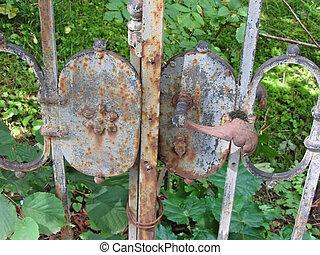 門, 錆ついた, 古い