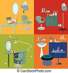 Beauty salon spa meubel plat ontwerp - Spa ontwerp ...
