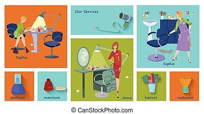 Beauty spa salon service page