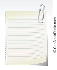 blank note - vector - Lined blank note breaked away from the...