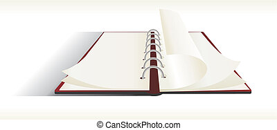note pad - Double sided note pad - vector
