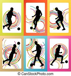 Soccer football player silhouette v