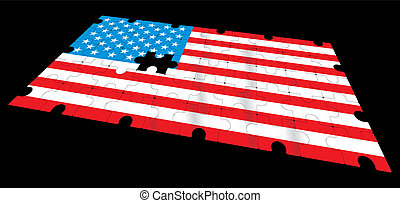 american flag - vector american flag - vector illustration