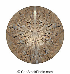 Decorative background - Creative design of Antique circle...