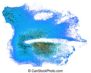 abstract blue stroke ink watercolor brush water color splash...