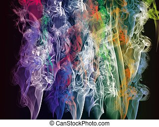 background, smoke and transparency