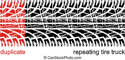 Tire tracks - Vector tire tracks (repeating left to right)