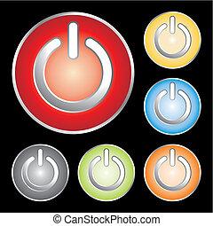 power button icons - power button icon set - vector...